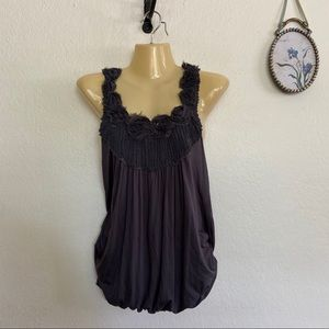 West Kei Gray Racer Back Top